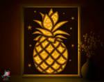 Pineapple Lightbox template 3D papercut shadowbox