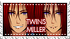 Twins Miller - OC Stamp by kamillyanna