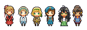 Hetalia Pixels Batch 1 by kamillyanna