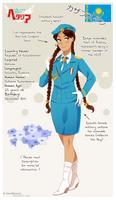 .:APH:. Kazakhstan OC by kamillyanna