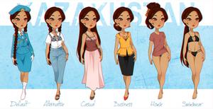 .:APH:. Kazakhstan Outfit Lineup by kamillyanna