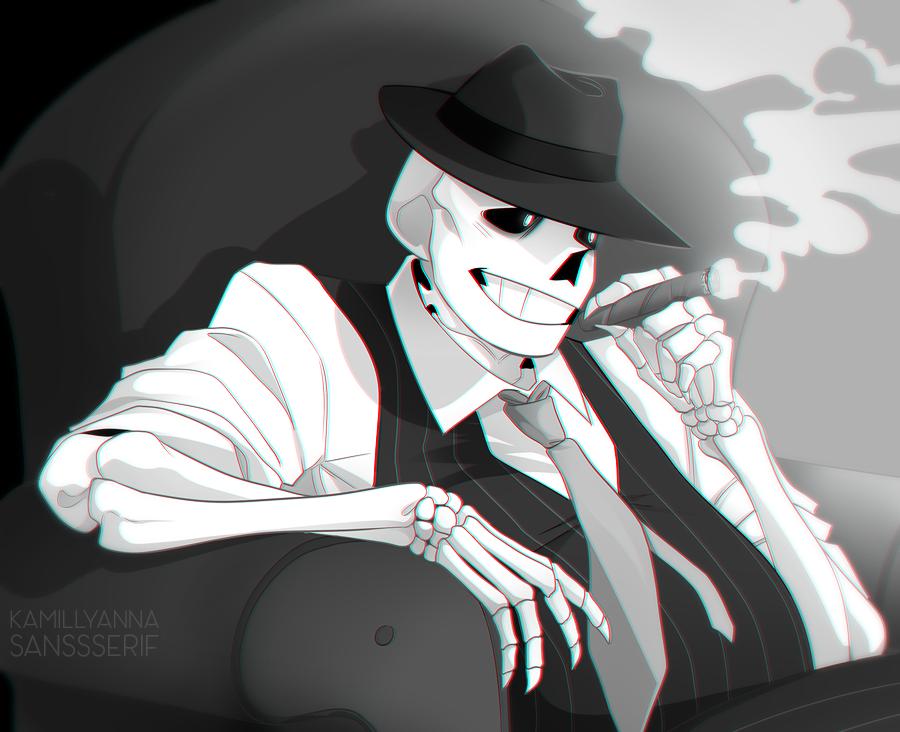 Sans the skeleton by LynIcarus on DeviantArt