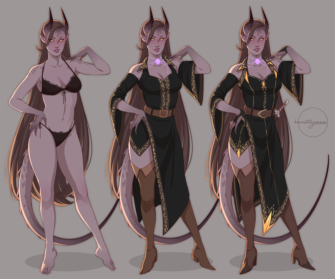 DND  outfit lineup by kamillyanna on DeviantArt