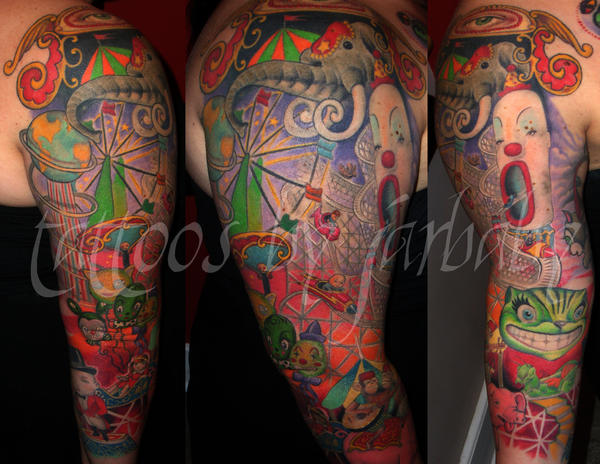 mark ryden sleeve - sleeve tattoo