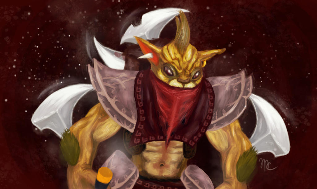 bounty hunter dota 2 by mysteri0uscat on deviantart