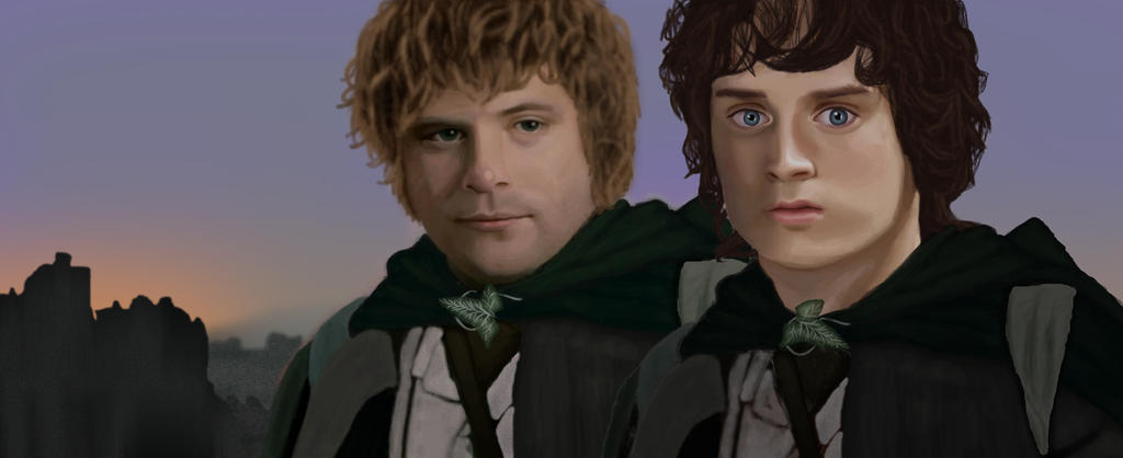 Sam and Frodo by FuckFakePpl