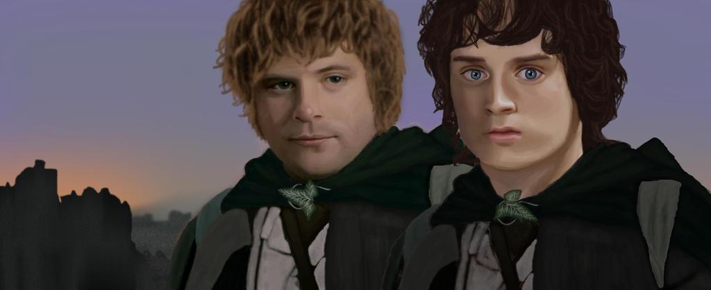 Sam and Frodo by FuckFakePpl