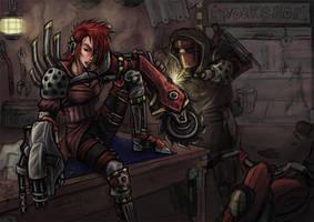 Cyborg Workshop by Dark-Emissary
