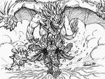 Inktober 2015 - Day 1 - Mordekaiser's Dragonforce