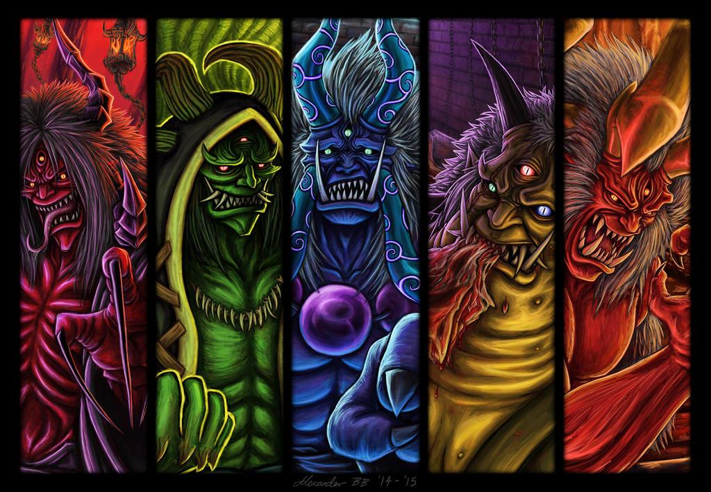 Oni Painting Oh Oni By Dark Emissary On Deviantart