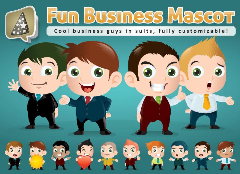 Business Mascot Creation Kit by LouisDavilla