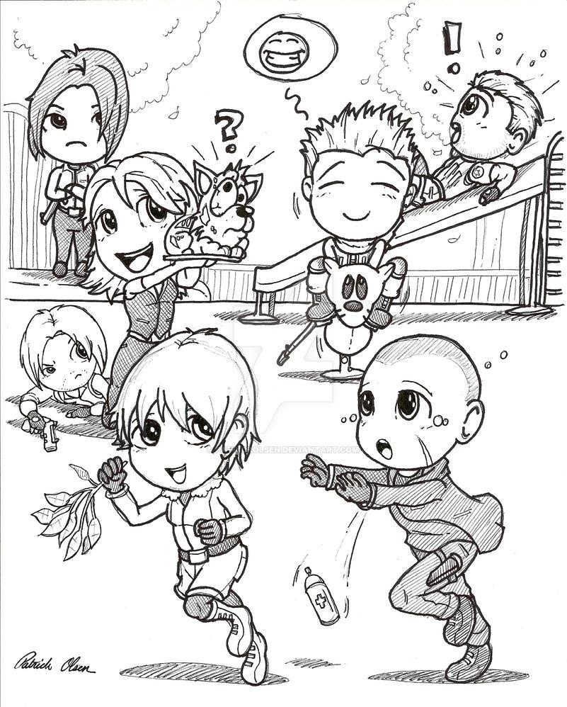 Resident Evil 6_Chibi edition by PatrickOlsen