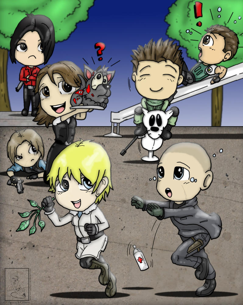 Resident 6 Chibi play ground by PatrickOlsen
