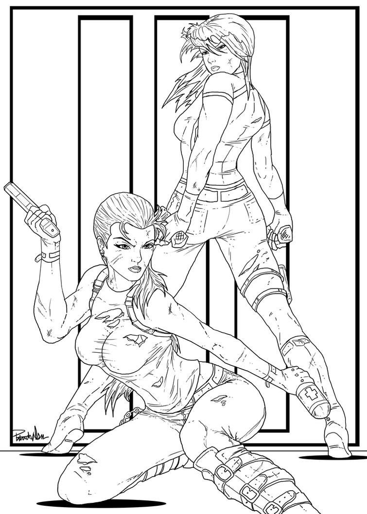 Female bad guys_RE_progress work by PatrickOlsen