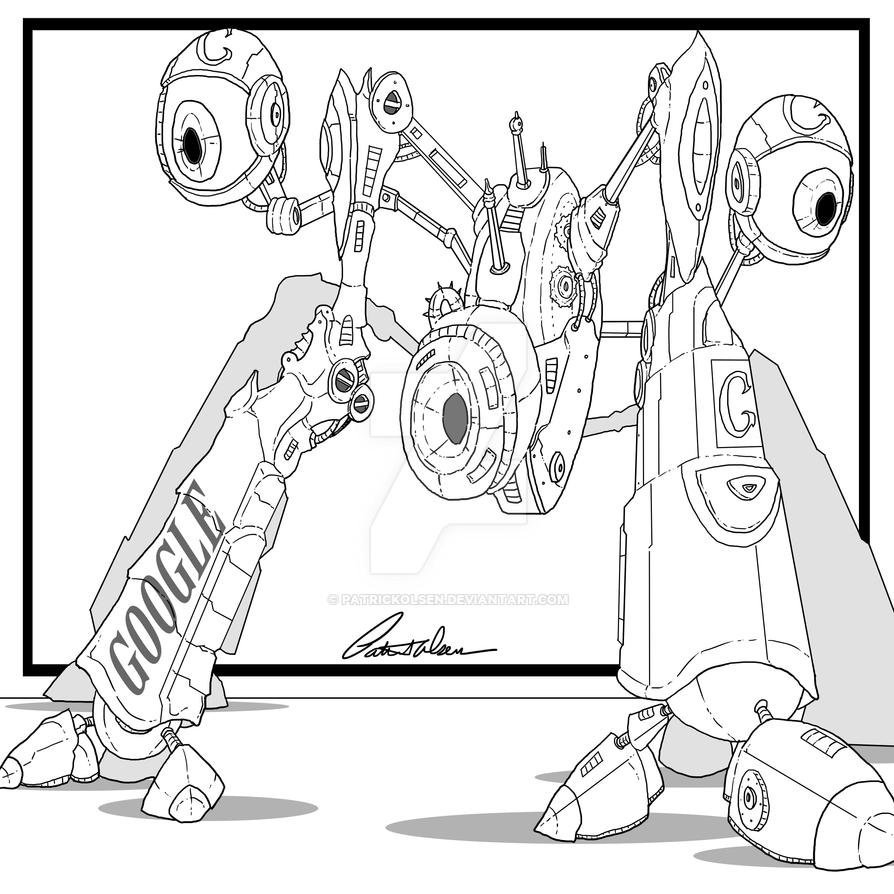 Robot Google sketch by PatrickOlsen