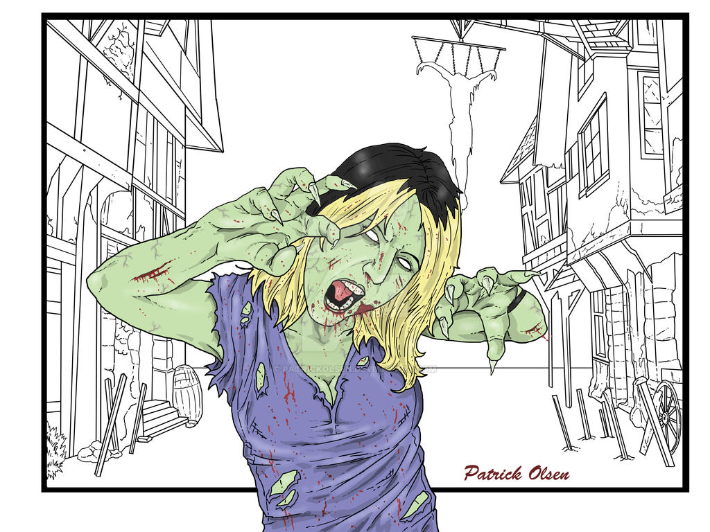 Rachael As A Zombie Color So Far by PatrickOlsen