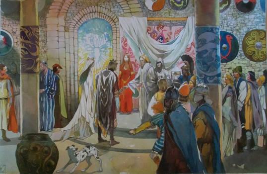 The wedding of Arthur and Guenievre