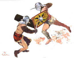Gladiators Provocator duel by VincentPompetti