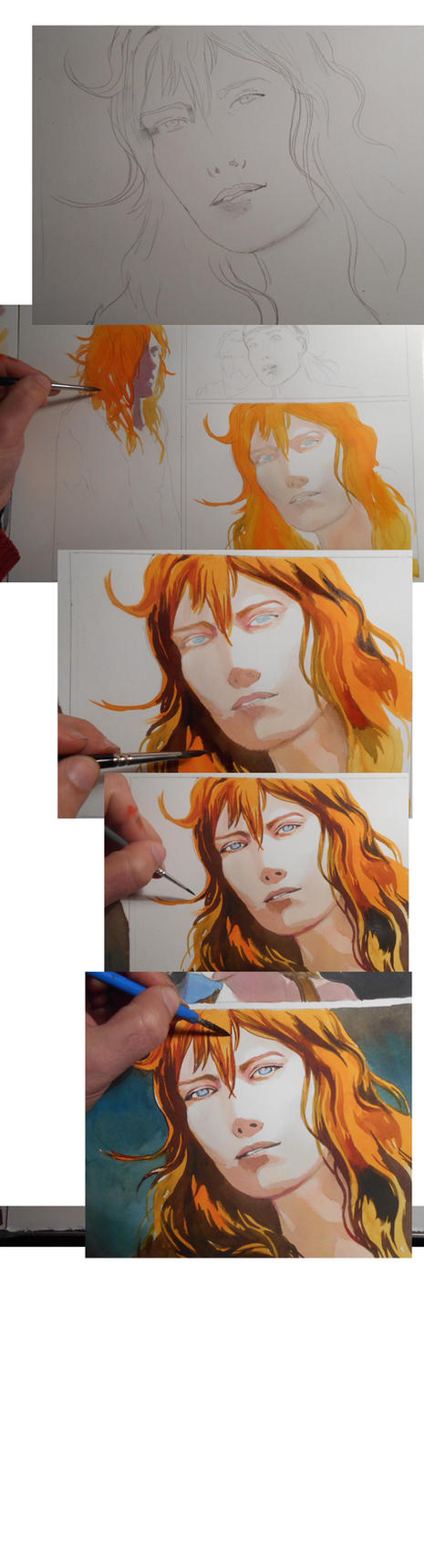 making of a comic book page by VincentPompetti