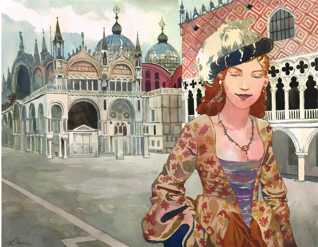 A Lady in Venezia by VincentPompetti