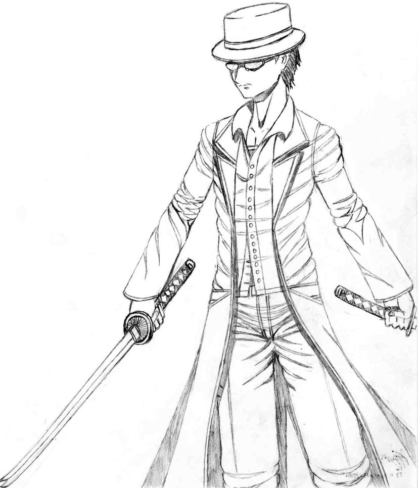 Gangster-Mobster Swordsman by cpi
