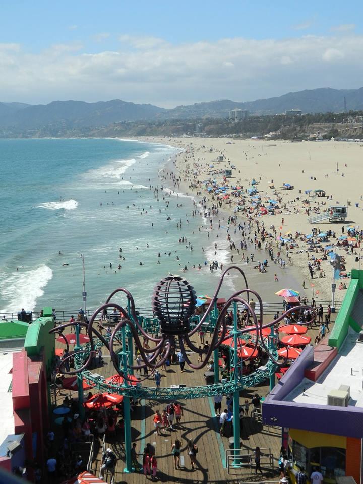 Santa Monica Pier, let's ride by charnelle-volcom9