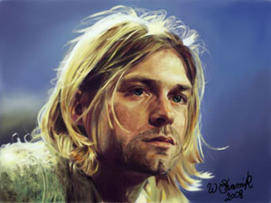 Kurt Cobain digital painting by WilliamsShamir