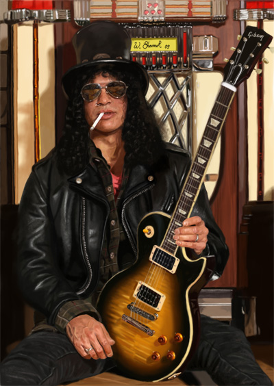 SLASH -painting by WilliamsShamir