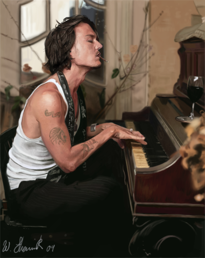 Johnny depp painting by WilliamsShamir