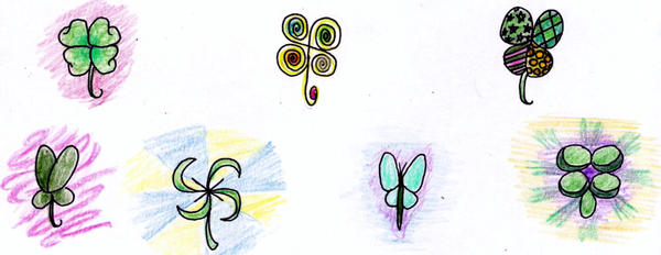 Four leaf Clovers by Chivalricspook
