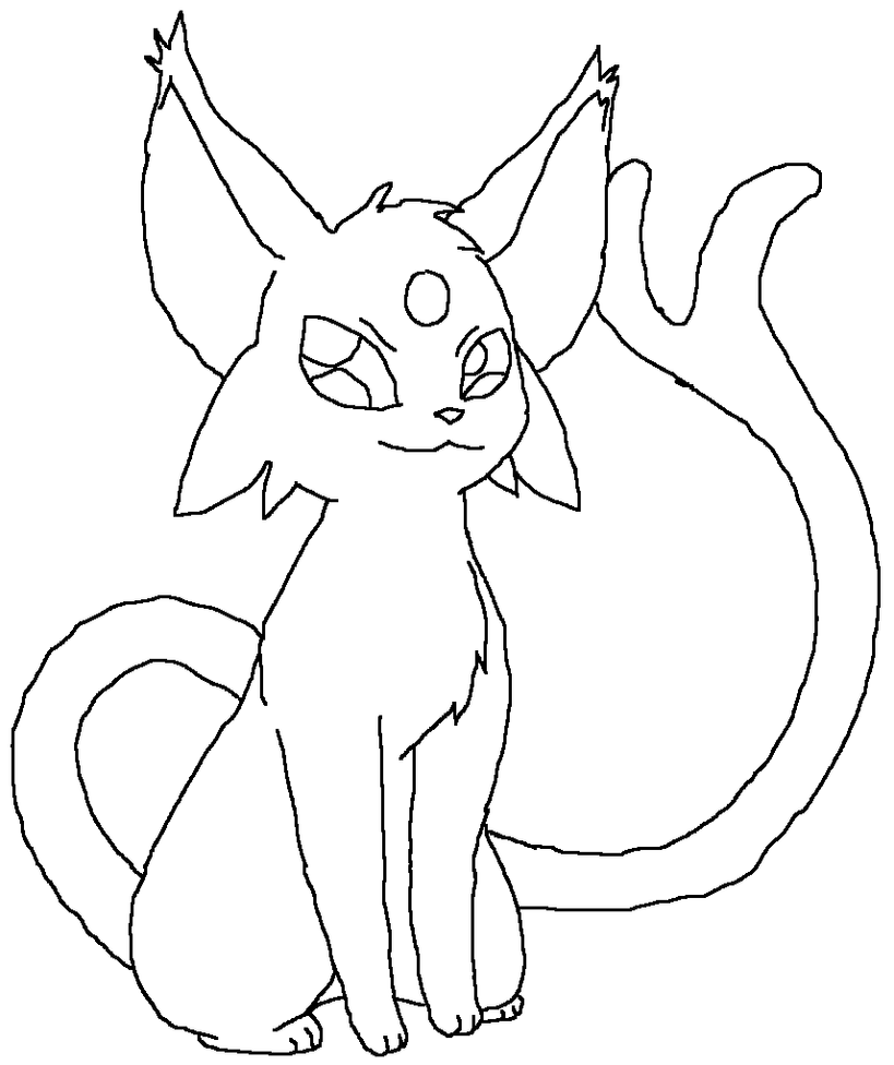 espeon pokemon coloring pages - photo#17