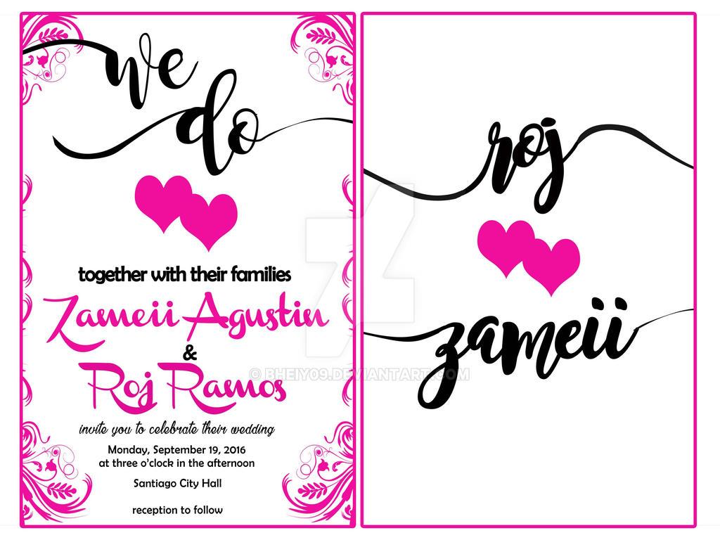 Simple Wedding Invitation Sample by bheiy09