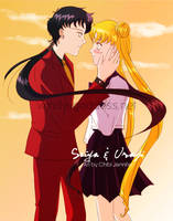 Seiya and Usagi by Chibi-Jennifer