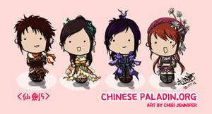 Chinese Paladin 5 Chibi Dolls