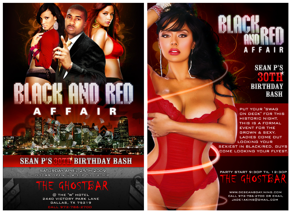flyer ad black and red affair by princepal on flyer ad black and red affair by princepal