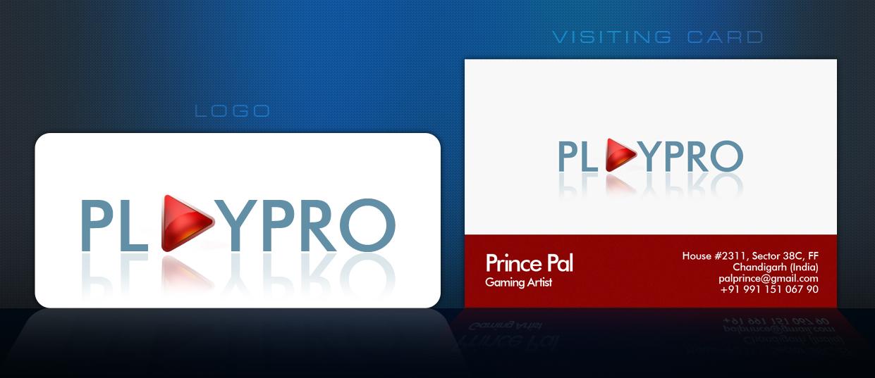 V Card Branding Playpro Logo V Card