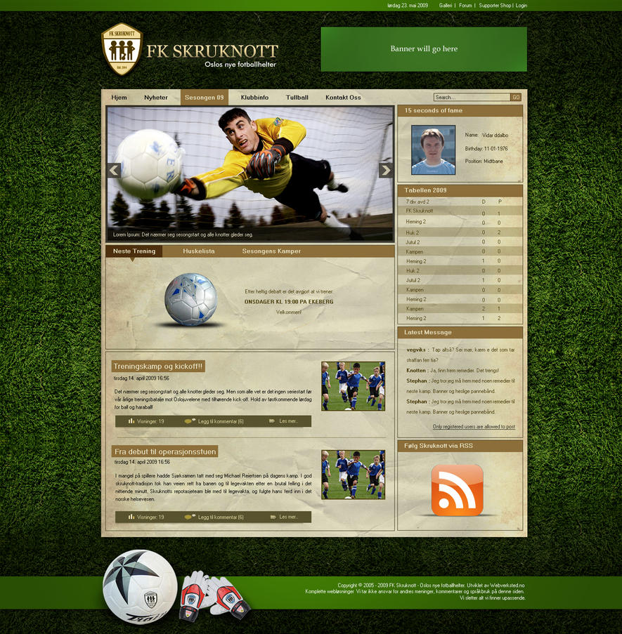 Joomla Template Soccer Style by princepal