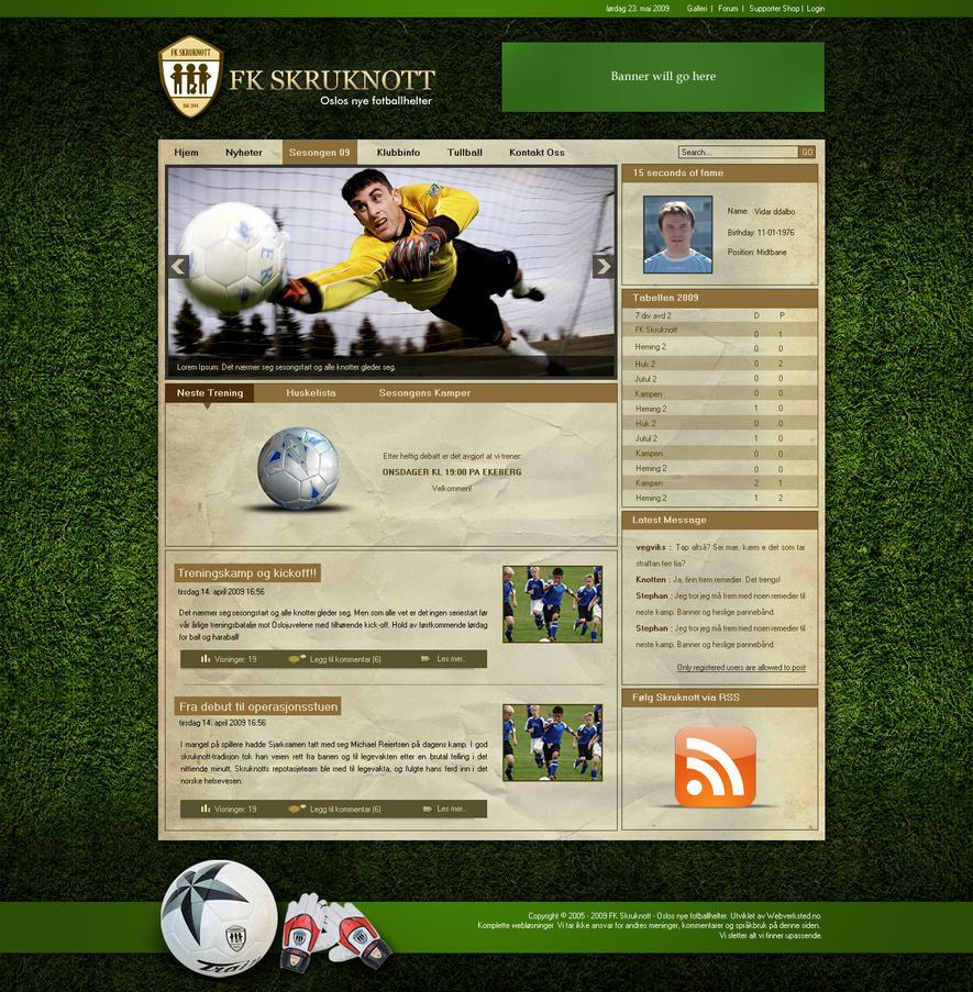 Joomla Template Soccer Style by princepal on DeviantArt