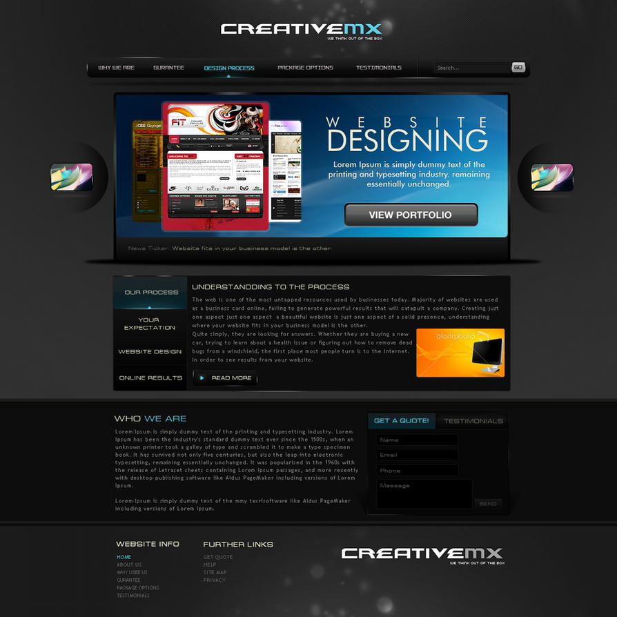 Creative Portfolio Template by princepal