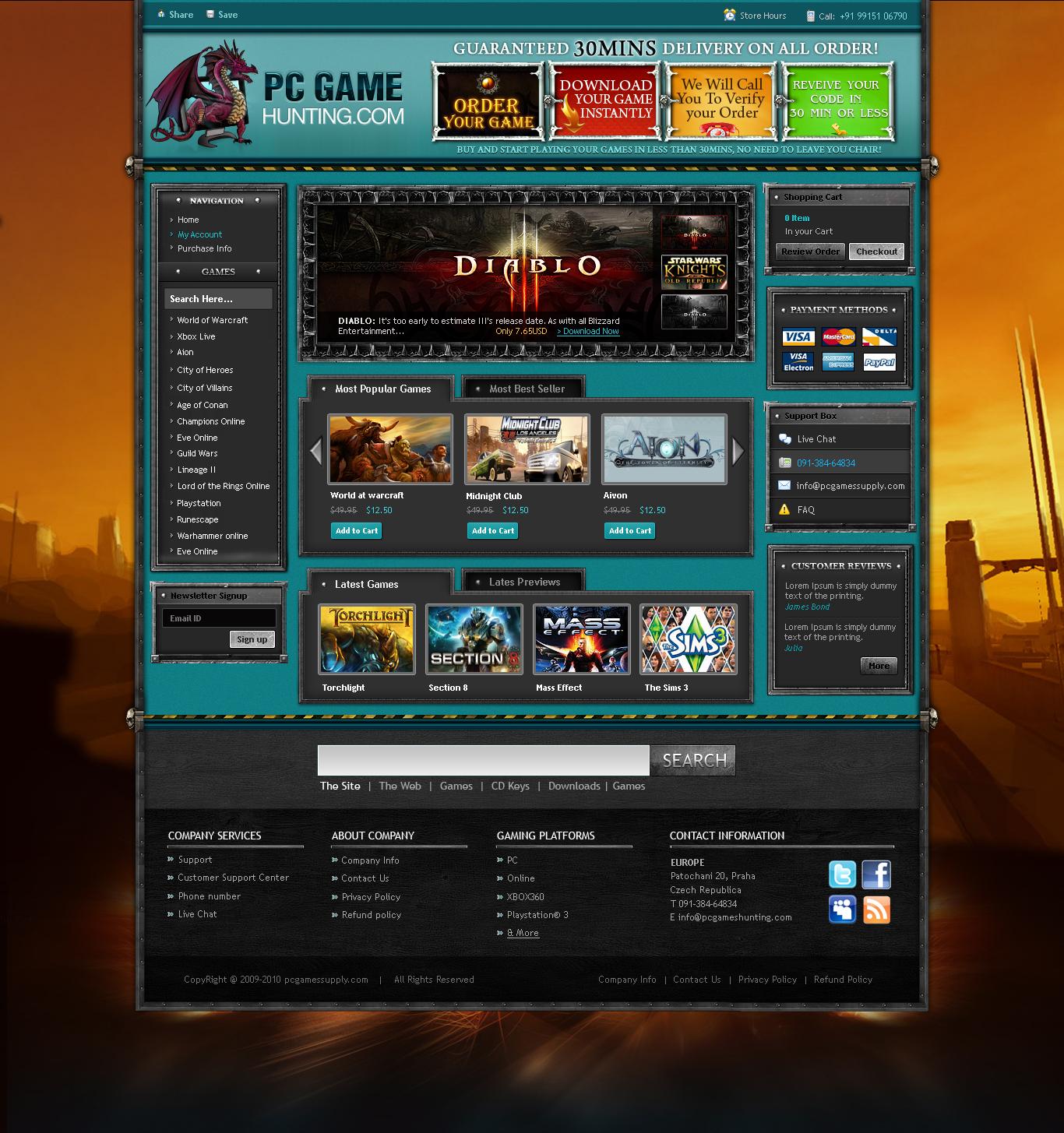 Game Website Joomla by princepal