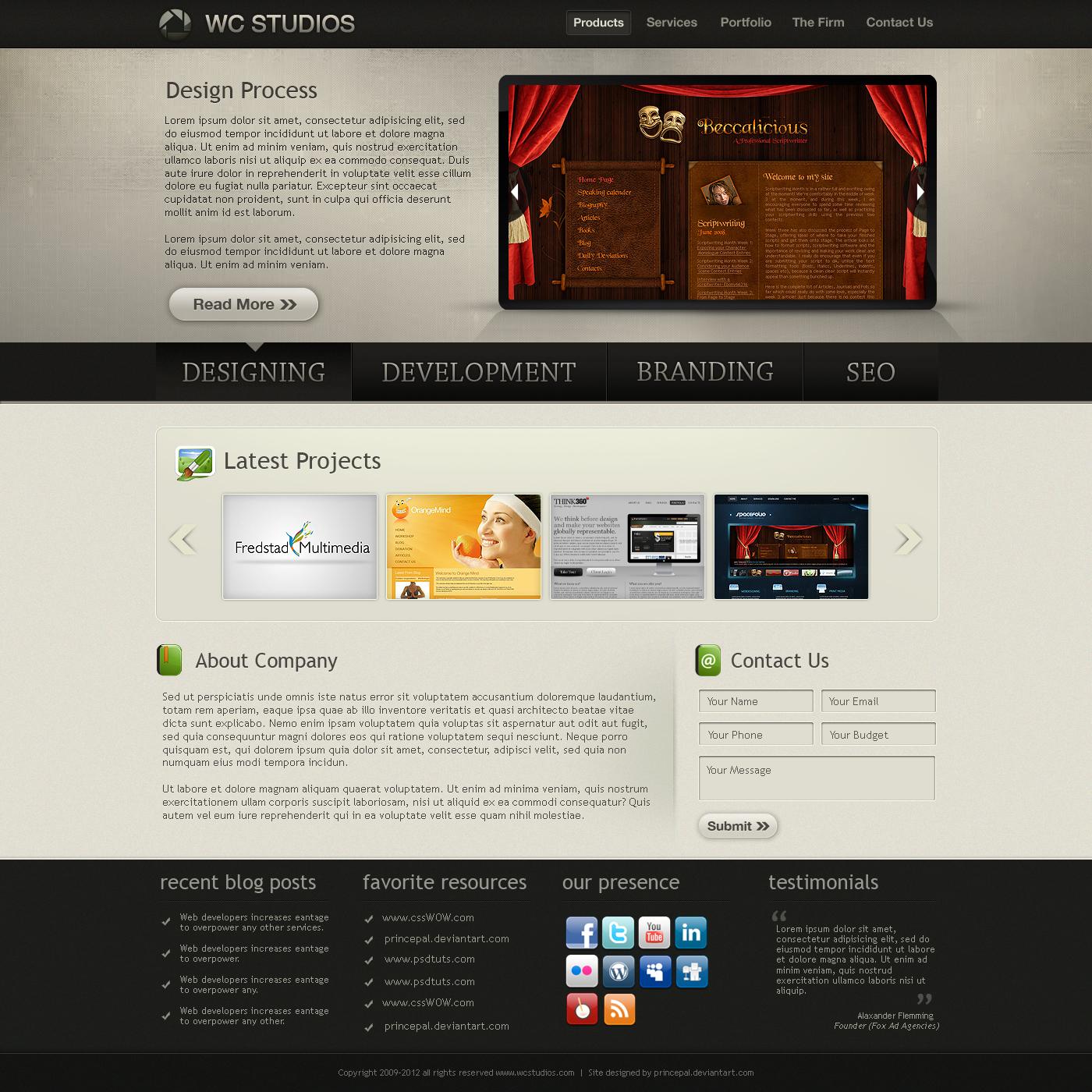 Web 2.0 Company Portfolio by princepal