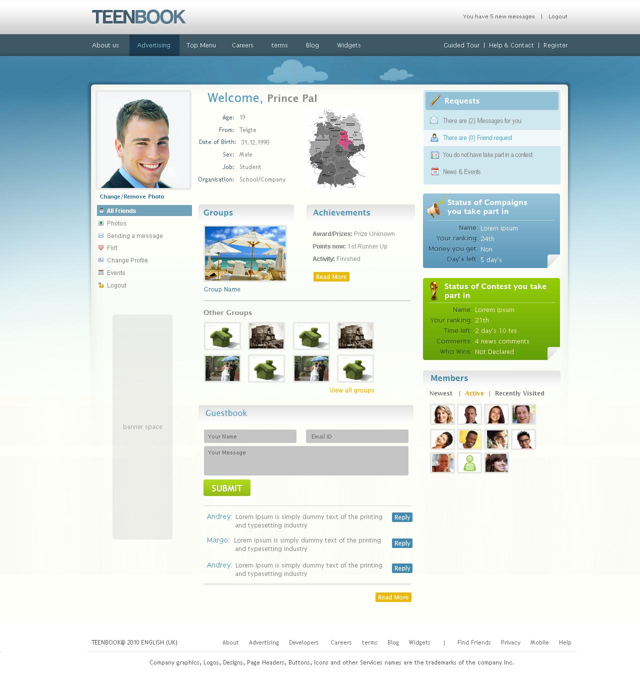 Community Website Design Inner by princepal