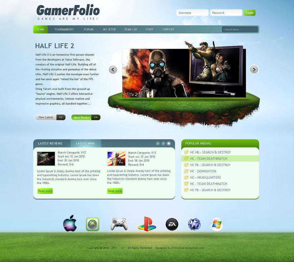 Gamer Portfolio by princepal
