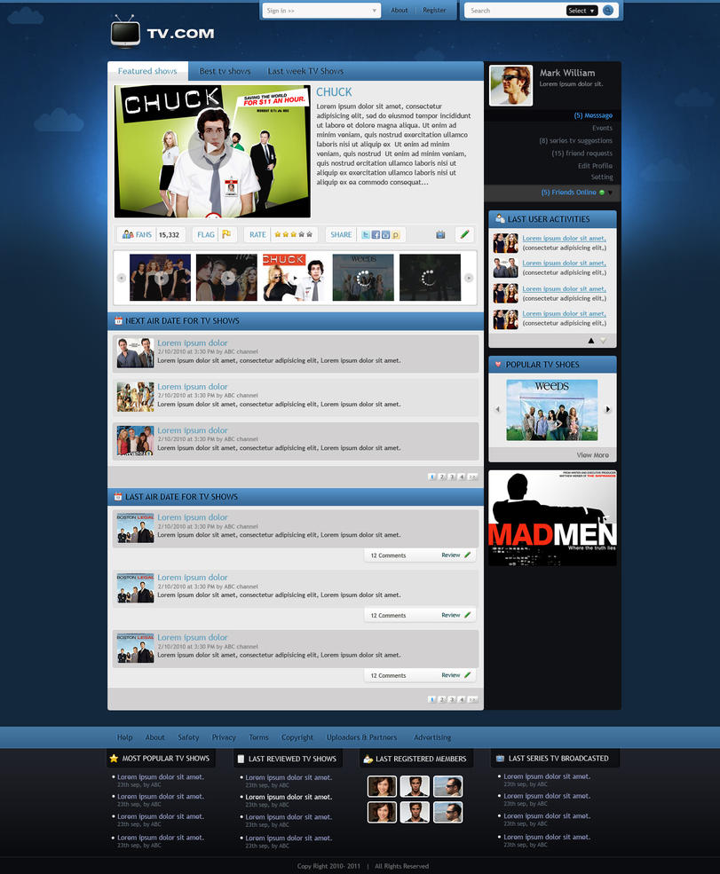 tv com community gui homepage by princepal d34x1er Creatively Inspired Web Interface Designs