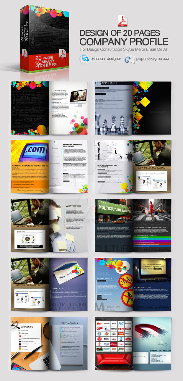Company Profile Design Pdf by princepal