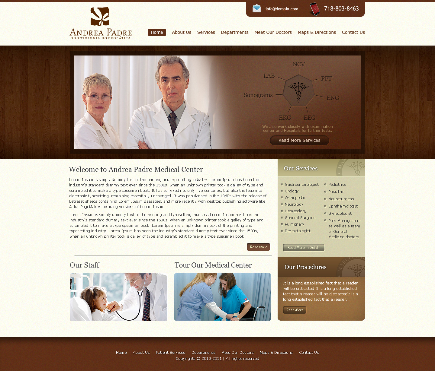 Medical Clinic WP Template by princepal