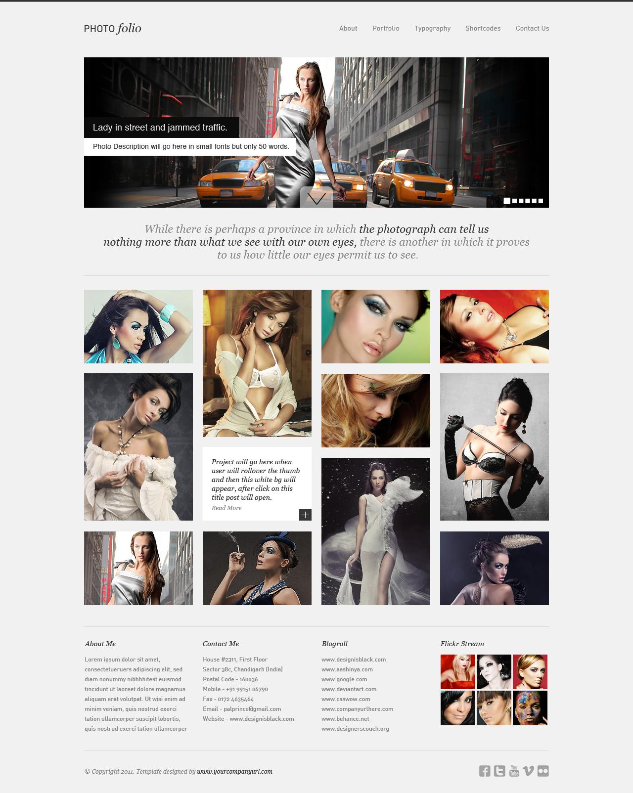 Minimal PhotoFolio WP Theme by princepal