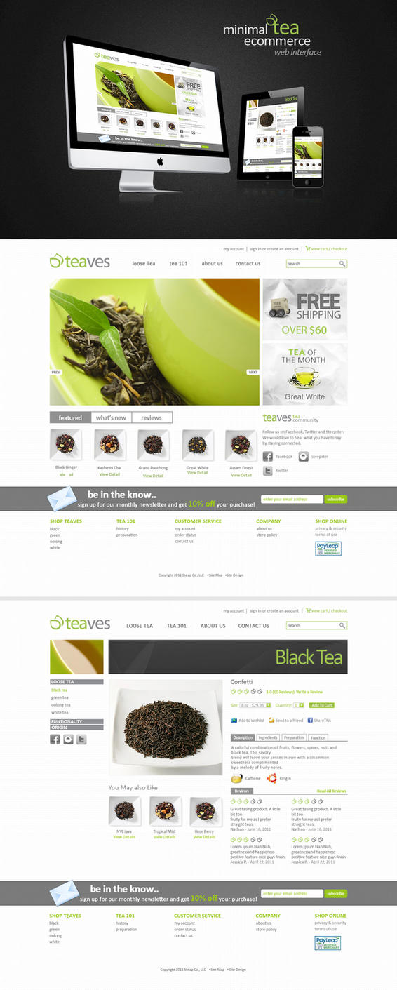 Minimal Tea eCommerce WebSite by princepal