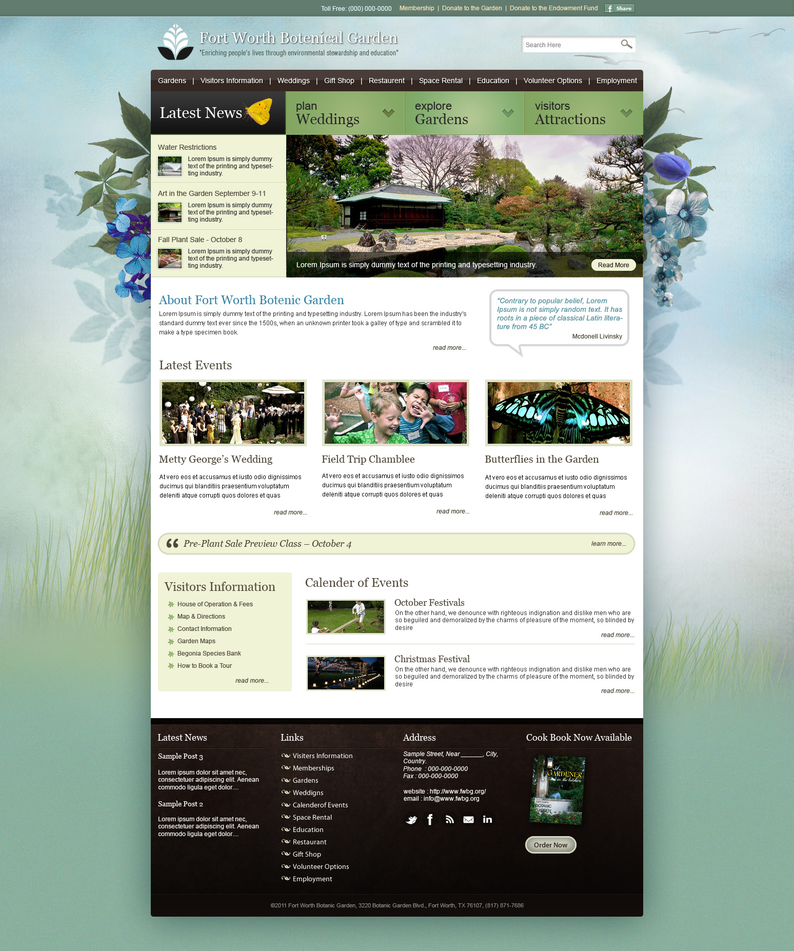 Garden Wordpress Template by princepal