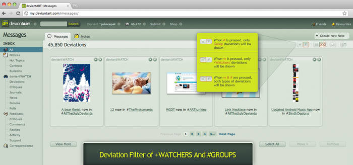 Deviation Filter of Watchers And Groups